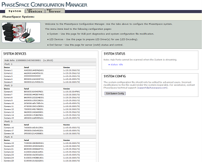 PhaseSpace Motion Capture Configuration Manager