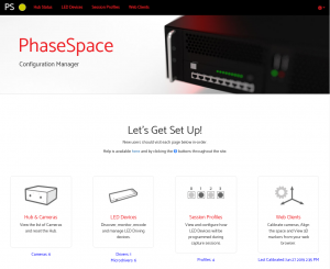 PhaseSpace Configuration Manager